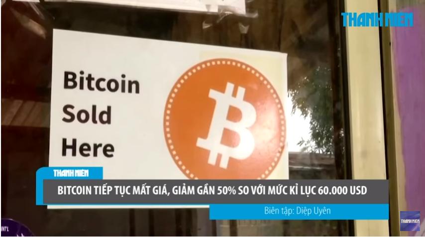 Bitcoin mất giá gần 50% so với mức kỉ lục 60.000 USD
