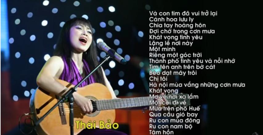 Những ca khúc hay nhất của Thái Bảo