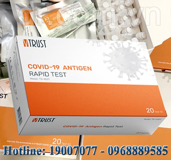 Test nhanh kháng nguyên VTRUST COVID-19 Model: TD-4531